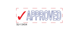 "SU-13454 - 2 Color ""Approved"" <BR> Title Stamp"