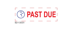 "SU-13531 - 2 Color ""Past Due"" <BR> Title Stamp"