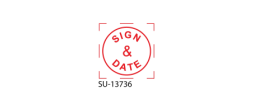 "SU-13736 - Small ""Sign and Date"" <BR> Title Stamp"